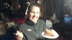 Still loving my mom's German chocolate cake!