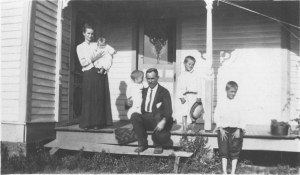 The Baldwin Family, Paris, TN circa 1915 Grandpa C is at the far right.