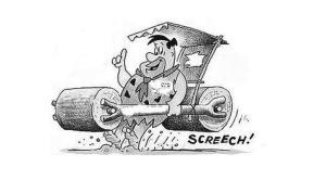 Fred Flintstone braking