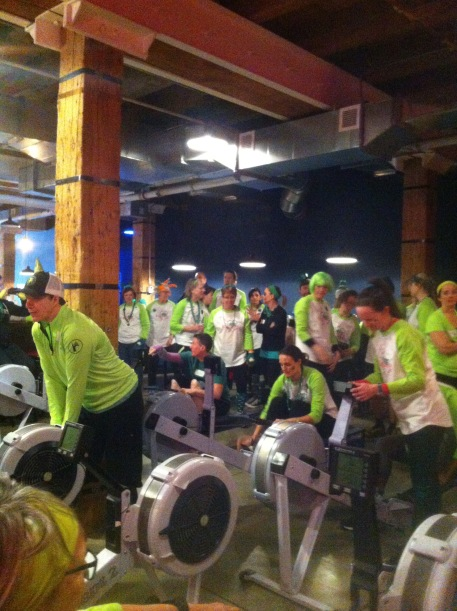 St. Patrick's Day 2017 was too cold to get out on the water, so we stayed inside where coaches, teammates and ROW supporters competed in Erg Relays. Keeping it fun!